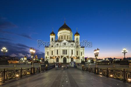 russland moskau kathedrale von christus dem