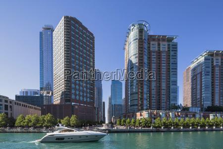 usa illinois chicago yacht on chicago