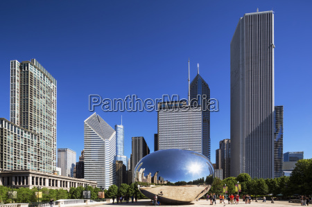 usa illinois chicago view to cloud