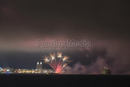 usa illinois chicago fireworks at navy