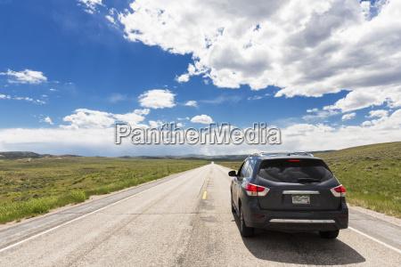 usa wyoming highway 26 car