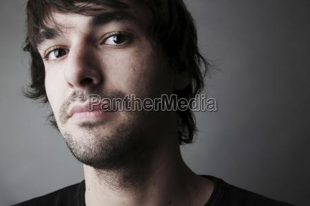 portrait des jungen mannes close up