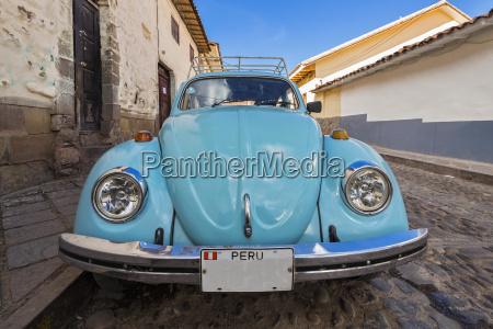 peru cusco old car in the