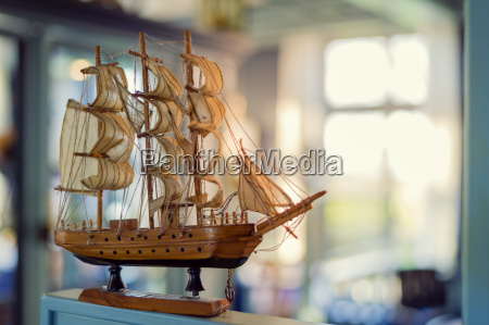 modell eines segelschiffes