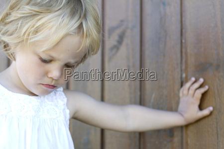 denmark ringkoebing sad little girl