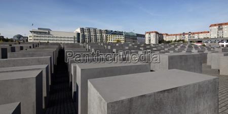 germany berlin view of holocaust memorial