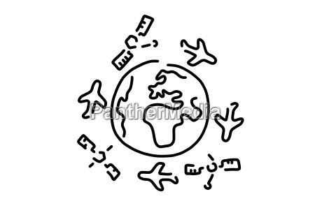 volando por el mundo aviones satelites
