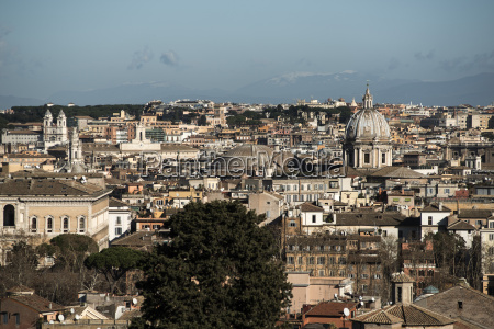italy rome view to city of