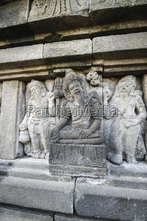 indonesia java relief in the temple