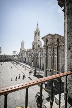 peru arequipa basilica catedral church at