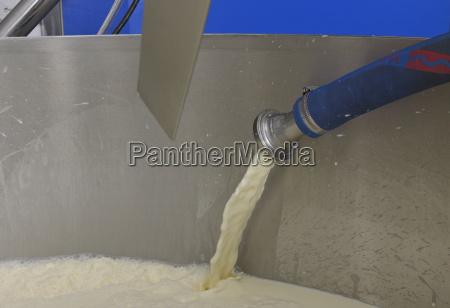 germany baden wuerttemberg milk flows into