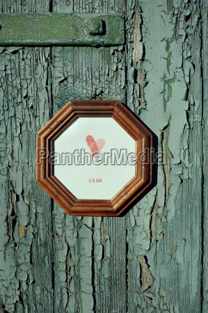 picture frame with fingerprints and date