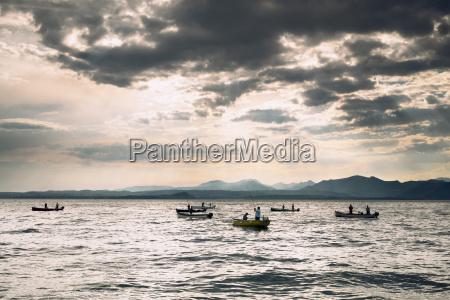 italy veneto bardolino fishing boats on