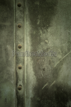 weathered metal door close up