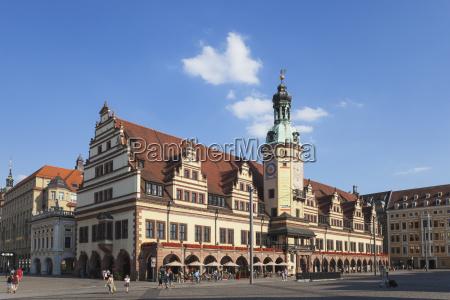 deutschland leipzig altes rathaus