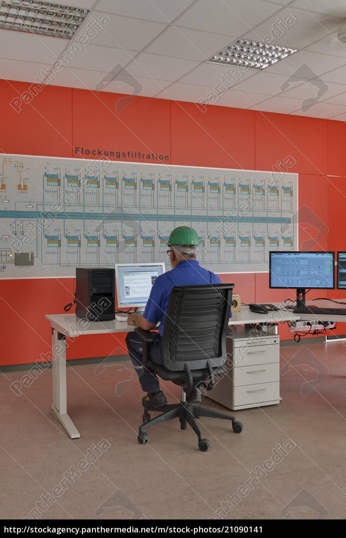 germany, , baden-wurttenberg, , man, working, in, control - 21090141