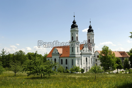 deutschland bayern bayerisch schwaben ehemalige benediktinerklosterkirche