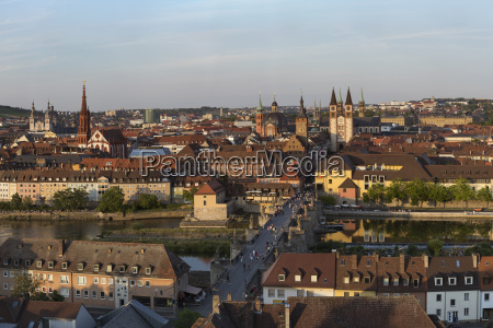 germany bavaria wuerzburg old town with
