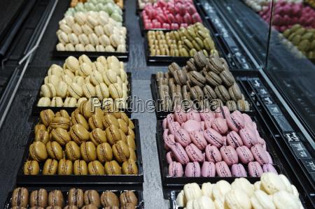 frankreich paris montmartre chocolaterie bietet macaraons