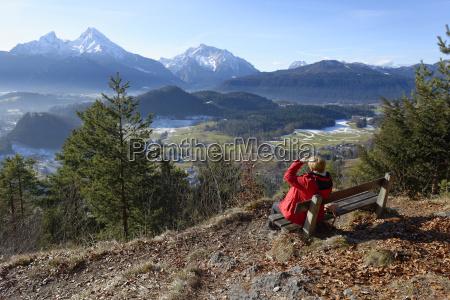 deutschland oberbayern berchtesgaden maria gern watzmann