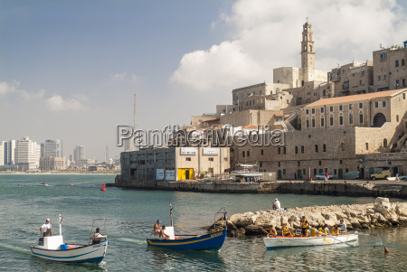israel jaffa harbor and old town