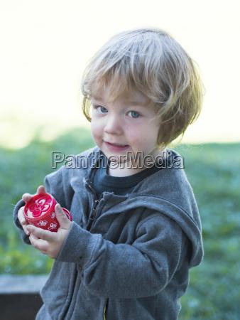 austria portrait of boy smiling close