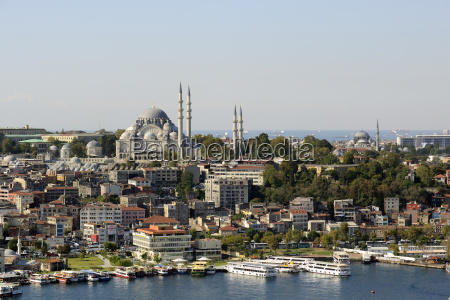 turkey istanbul view of suleiman mosque