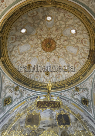 turkey istanbul interior of painted ceiling