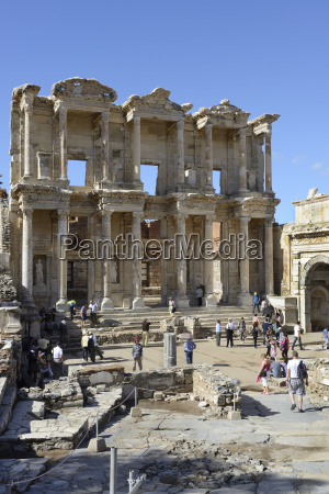 turkey view of library of celsus