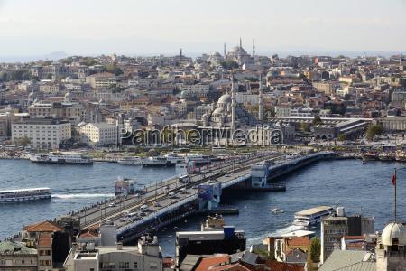 turkey istanbul view of galata bridge