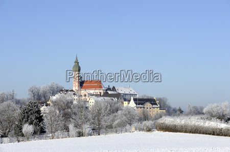 germany bavaria view of andechs abbey