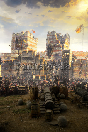 turkey istanbul painting of conquest of