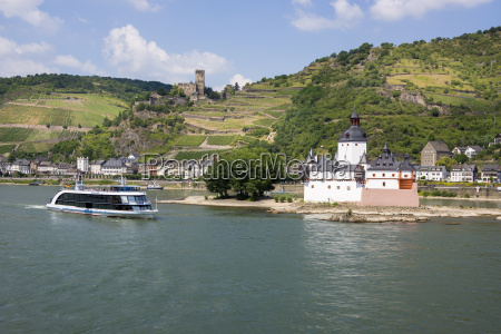 germany kaub and gutenfels castle with