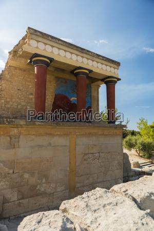 greece crete archeological site of knossos