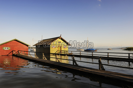 germany bavaria view of boathouse in