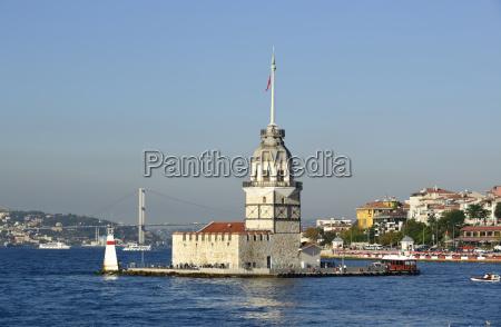 turkey istanbul maidens tower in bosphorus