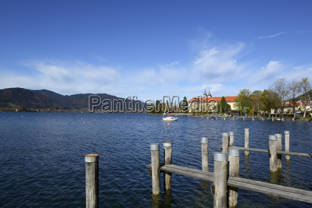 germany bavaria upper bavaria lake tegernsee