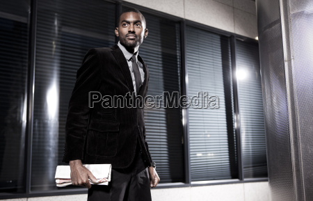 southafrica young african business man holding