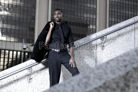 southafrica young african business man standing