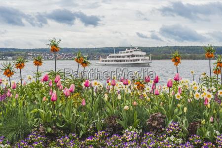 germany ueberlingen uberling lake tourist boat