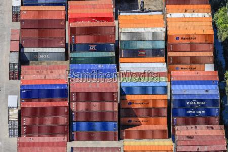 luftaufnahme containerterminal in regensburg