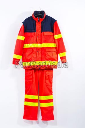 rescue, service, uniform, hanging, against, white - 21096353