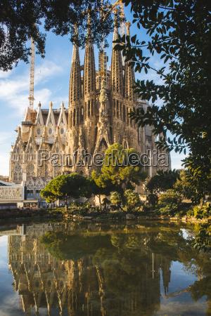 spanien, barcelona, blick, auf, la, sagrada, familia - 21096231