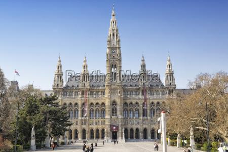 austria vienna view to city hall