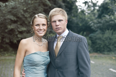 germany duesseldorf portrait of young couple