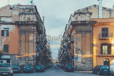 italy sicily palermo street view in