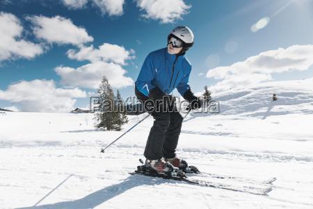 germany bavaria winklmoosalm mature man skiing