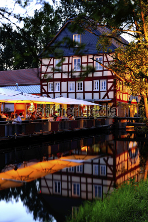 germany hesse frankenberg view of restaurant
