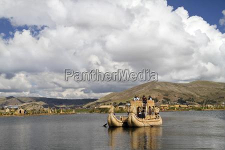 south america peru typical boat made