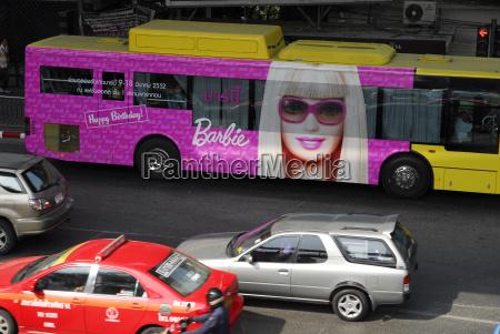 thailand bangkok rush hour at rama